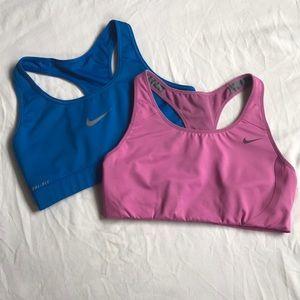 Two Nike DriFit Sportbras